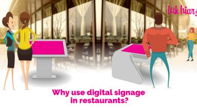 digital signage in restaurants