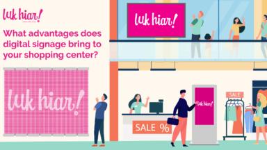 digital signage shopping centers
