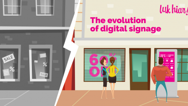 evolution of digital signage