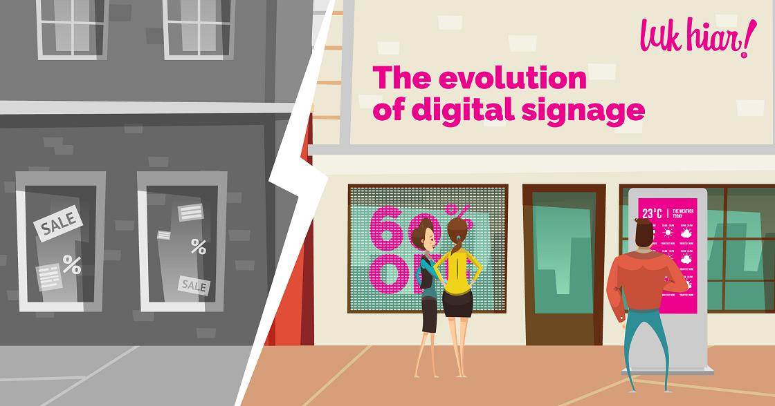 evolution of digital signage
